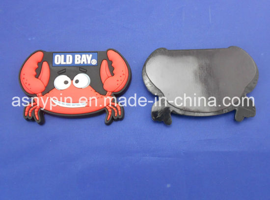 Custom PVC Red Crab 3D Fridge Magnet Hot Sale pictures & photos