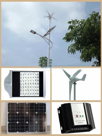 Hot Sale 30W~100W Solar Street Light with 100W Wind Turbine, Solar Panel Outdoor Solar LED Street Light