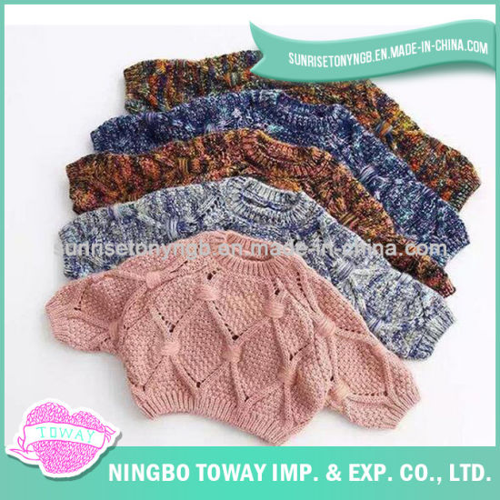 426a5c908d7d China Winter Wool Crochet Crew Neck Baby Girl Sweaters - China Baby ...