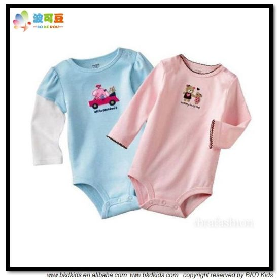 Combed Cotton Baby Clothes OEM Newborn Bodysuit
