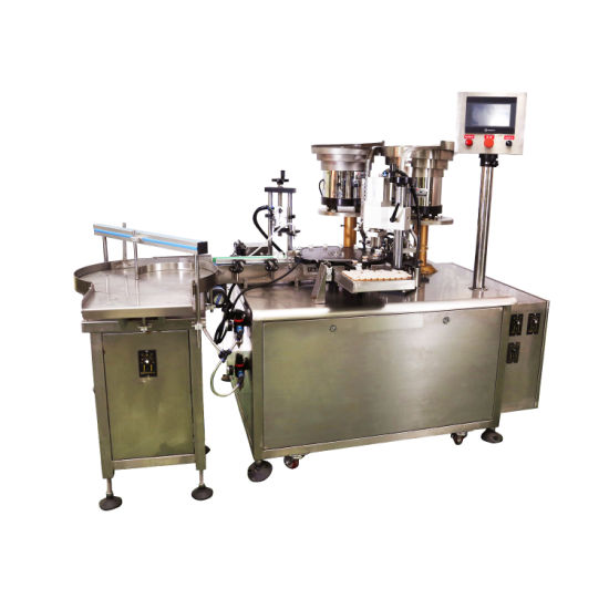 Essential Oil Filling Stoppering Capping Labeling Machine