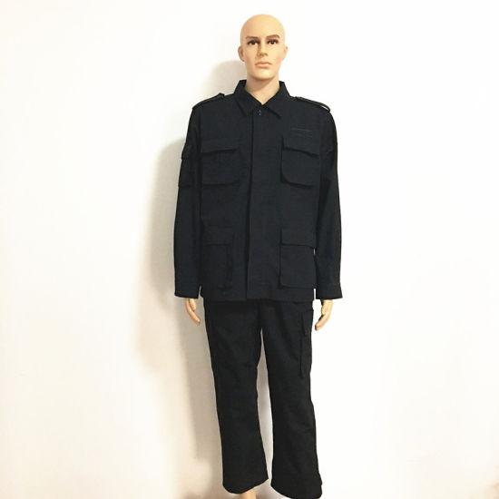 468cf88cc00d 100% Cotton Flame Retardant Black Jacket Pants Safety Workwear pictures    photos