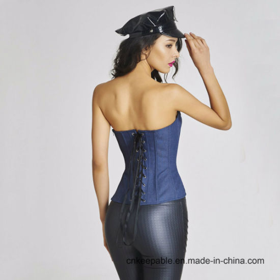 Women Cowboy Waist Shaper Bustier Zipper Waist Slimming Corset pictures & photos