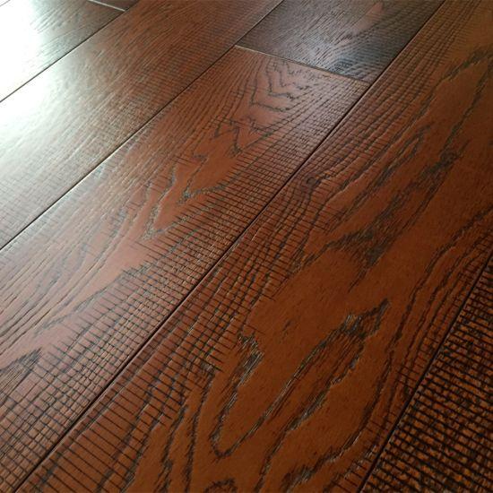 China Handsed Oak Flooring With