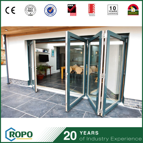 China Plastic Hurricane Impact Bi Fold Glass Patio Door China