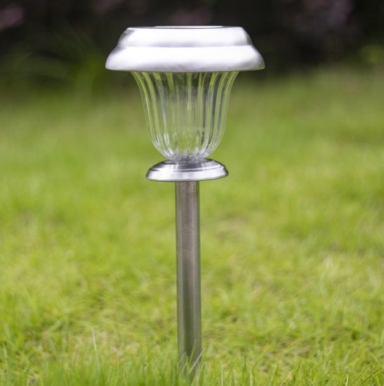 Pathway Lighting Home Garden Store Glow Pack Of 4 Solar Powered Diamond Stake Lights Super Bright White Led Stainless Steel Weatherproof Outdoor Rechargeable Decorative Garden Path Patio Lighting With Auto On
