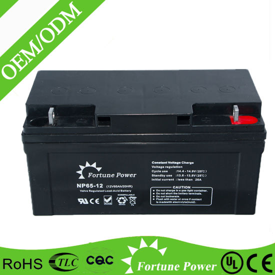 12V65ah Gel Deep Cycle Lead Acid Battery Solar/UPS Power System