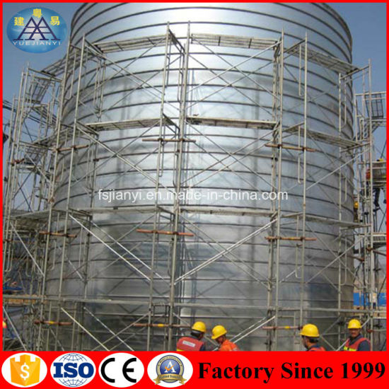 Galvanized Steel Hot Dipped Cuplock Scaffolding Railing System for Round Building Construction pictures & photos