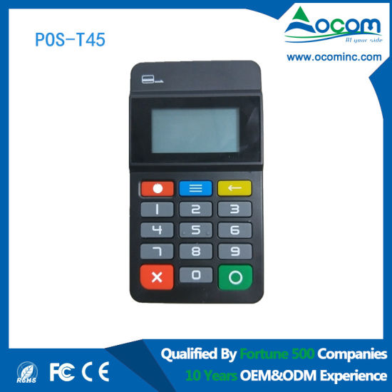 Mini Wireless POS Numeric Keypad with Card Reader pictures & photos