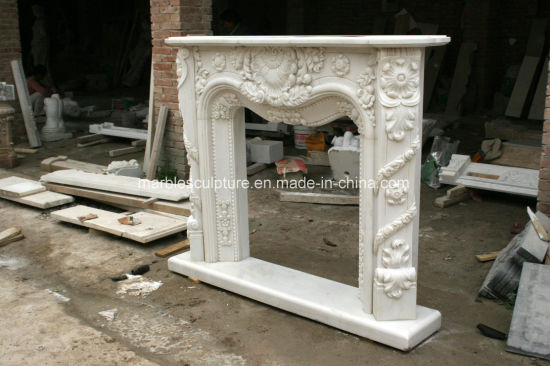 antique marble fireplace mantels. White Carrara Antique Hand Carved Marble Fireplace Mantel Sy Mf327 China
