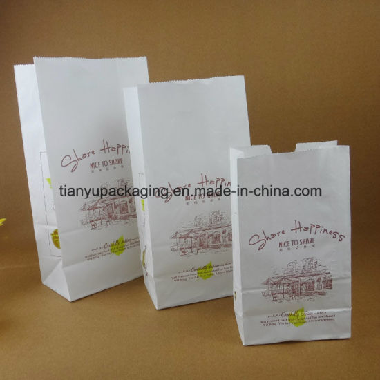 Food Paper Bakery Bag Print Logo pictures & photos