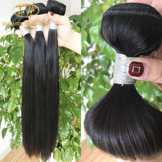 Wholesale 100% Unprocessed Virgin/Remy Brazilian/Indian Human Hair in Silk Straight with Facroty Price