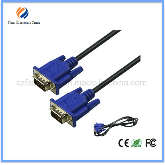 VGA 3+6 Cable VGA Male to Male Cable 15m pictures & photos