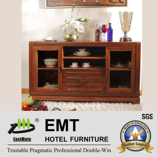 Rubber Wood Material Wooden Side Cabinet (JZ-C-4002)