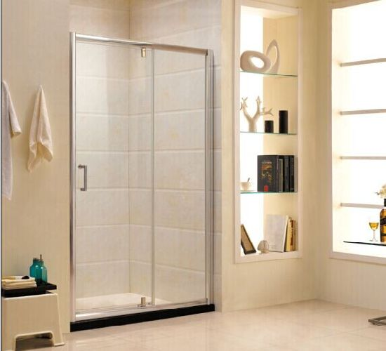 China Aluminum Frame Tempered Glass Bathroom Shower Door P13
