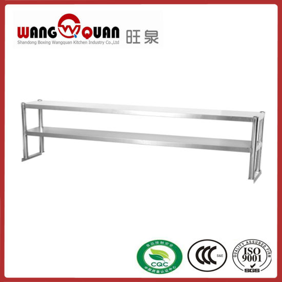 China Commercial Kitchen Stainless Steel Standing Shelf with 2 Tier ...