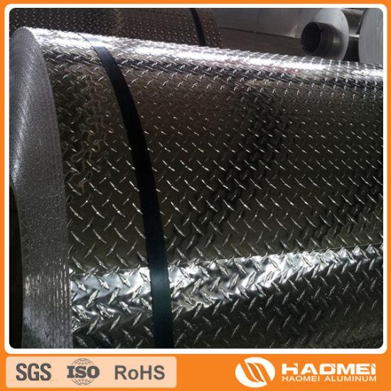 3003 Bright Finish Aluminium Diamond Coil (For skid-proof purpose)
