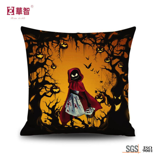 Halloween Holiday Design Customized Cushion Cover pictures & photos