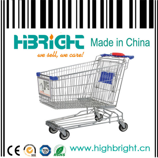 Asian Style 210L Big Supermarket Shopping Cart (HBE-Y-210) pictures & photos