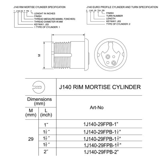 Cylinder (J140) pictures & photos