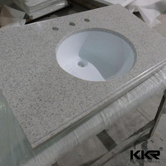 Custom Made Hotel Project Artificial Stone Bathroom Vanity Top 181109