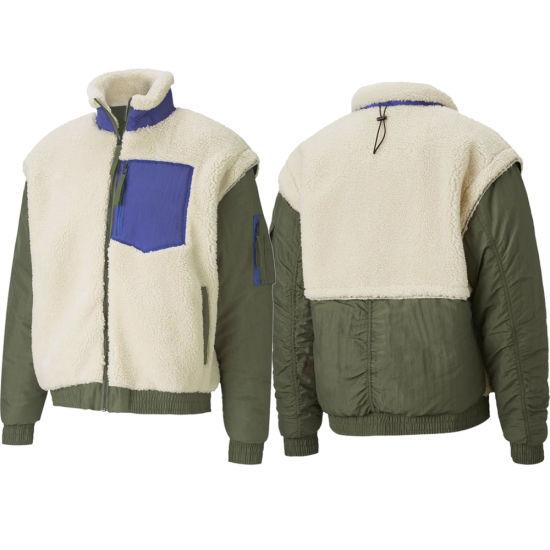 Mens Wholesale Fleece Long Sleeve Sherpa Jackets Coat