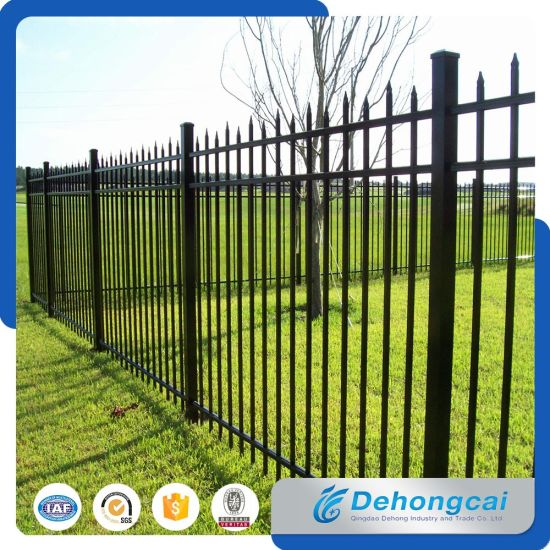 High Quality Security Wrought Iron Fence Panel with Square Tube pictures & photos
