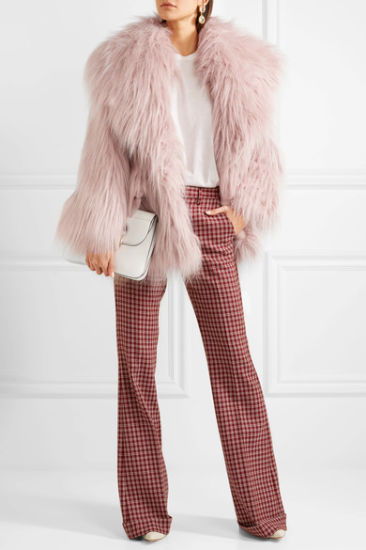 2017 High Quality Luxury Oversized Faux Fur Coat for Women