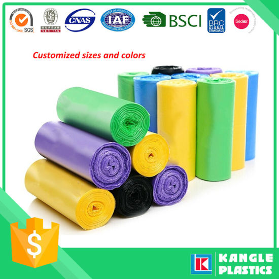 China Plastic HDPE Biodegradable Bag for Garbage - China