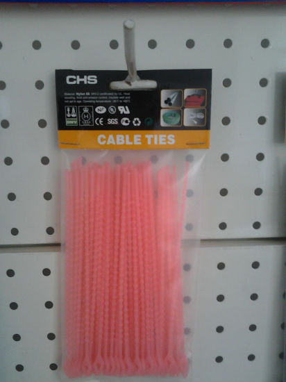 50415e432806 China Knot Ties Pink Nylon Cable Straps Releasable Type - China Knot ...