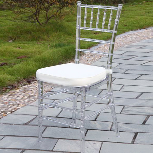 Clear Resin Tiffany Chair with Pad