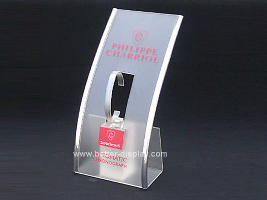 Acrylic Single Watch Display Stand with Logo Btr-F1069