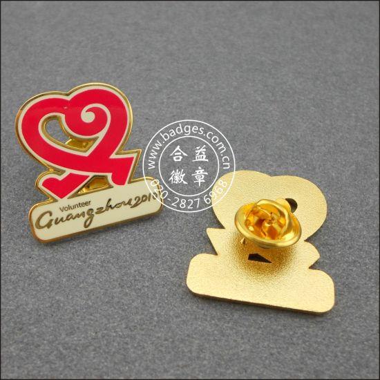 China Heart Shape Volunteer Badge, Custom Lapel Pin (GZHY-LP