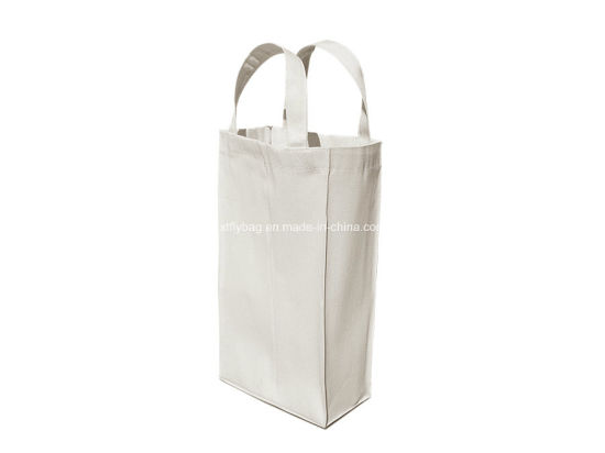 Eco-Friendly Cotton Wine Bag Tote Bags for 2 Bottles