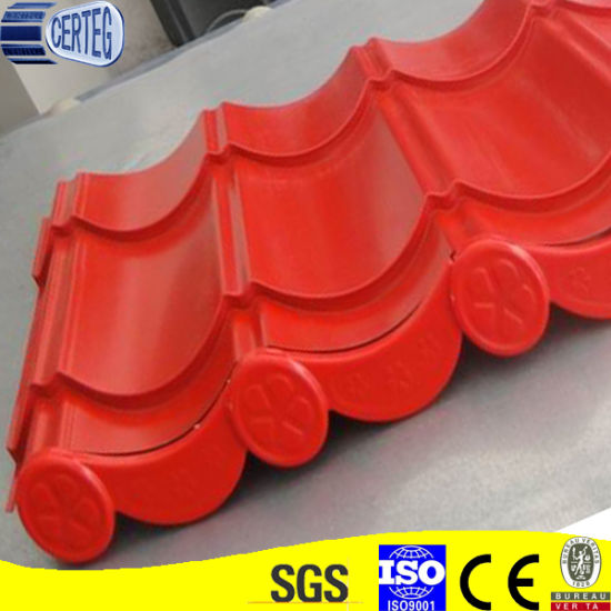 Hangzhou in stock Color Painted Steel Roof Ridge Tiles for building structure