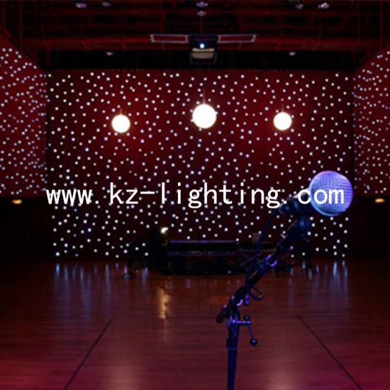 RGB /White 3in1 LED Star Curtain for Stage Backdrop Cloth Wedding Party Show pictures & photos