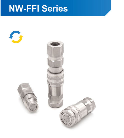 Flat Face Non-Spill Hydraulic Quick Coupling Nipples