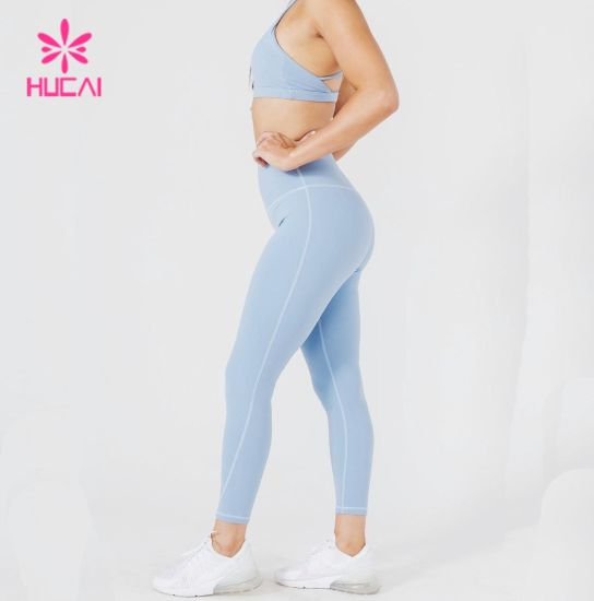 Hucai Custom Made High Wasit Women Fitness Legging Yoga Pants