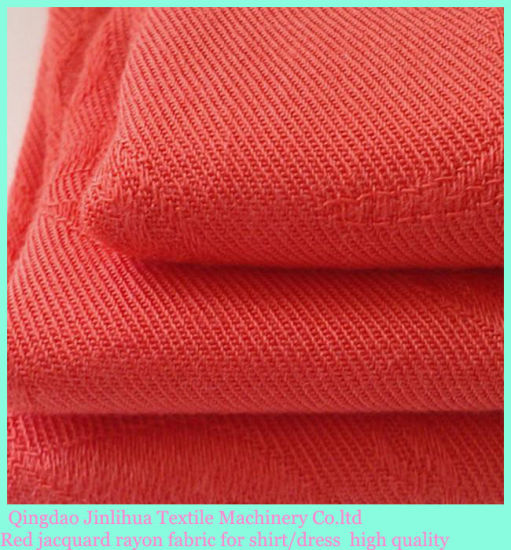 Jacquard Rayon Fabric Textile Fabric for Women Shirt pictures & photos
