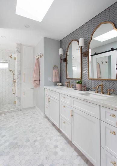 Guangzhou Supplier Austria Standard Classic Style MDF Shaker Bathroom  Cabinets Bath Vanity