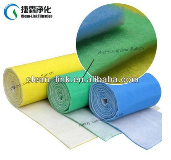 High Dust Capacity Washable Air Inlet Filter Media Air Inlet Spray Booth Primary Filter