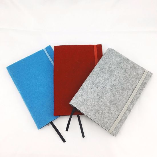 A5 Colorful with Elastic Felt Notebook