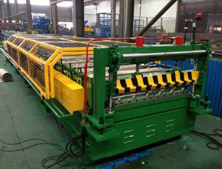 YX32-344.3-1033 Trapezoid Roof Panel Roll Forming Machine