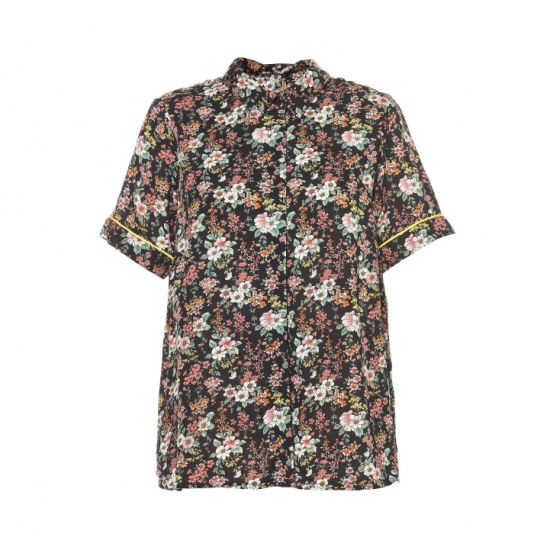 Fashion Style Ladies Blouse with Flower Printed Women's Shirt for 2020