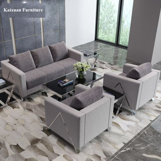 Wholesale Modern Office Fabric Leisure Sofa in Living Room Furniture