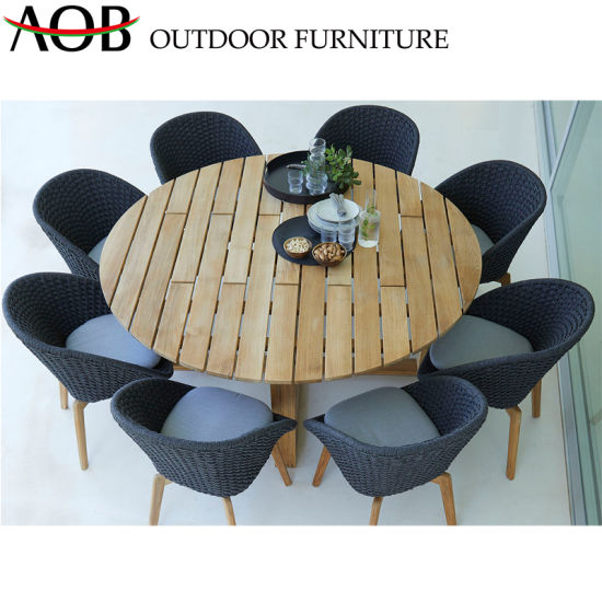 Bar Height Glass Table, China Contemporary Design Outdoor Dining Set Garden Patio Round Teak Table Balcony Furniture China Outdoor Furniture Dining Furniture