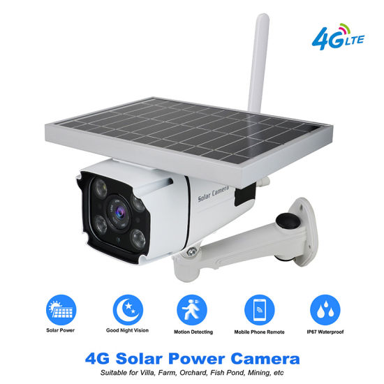Heyecai H8g-Y1 Wireless 4G Security IP Camera Solar Powered Panel Remote Monitoring Surveillance Camera pictures & photos