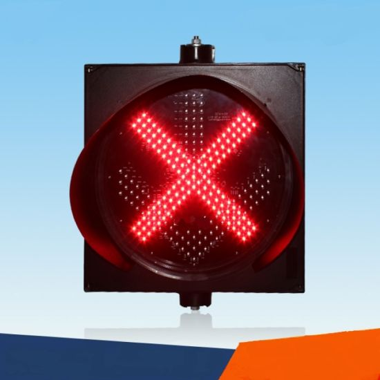 Roadway/Highway Safety Red Cross & Green Arrow Traffic Warning Signal Lights