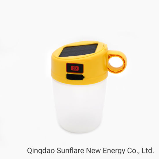 Popular Cup Shape LED Solar Study Lamp with IP65 and Shock-Proof