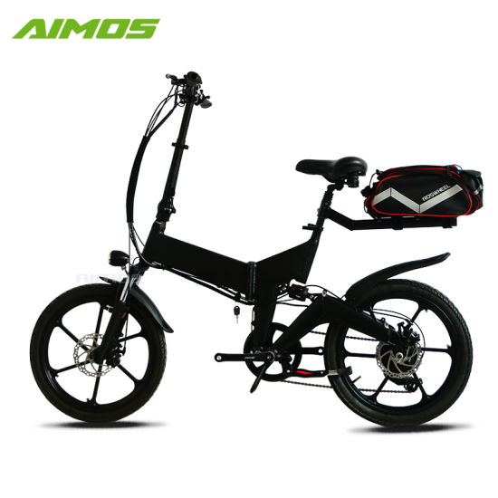 Folding Promotion Electric Bike 20'' Tire Electric Vehicle Wholesale Bafang Mag Motor 350W with Hidden Battery